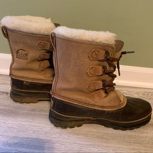 Sorel Caribou Kaufman Wool Lined Boots, Size 8